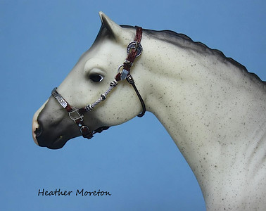 Braided Miniature Show halter with beads