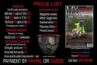 2017 price list copy