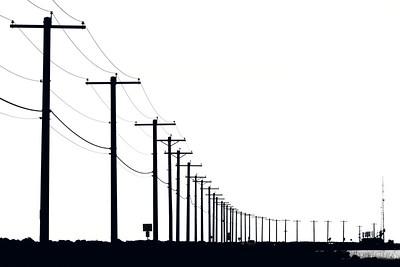Powerlines, Ediz Hook, Port Angeles, Washington