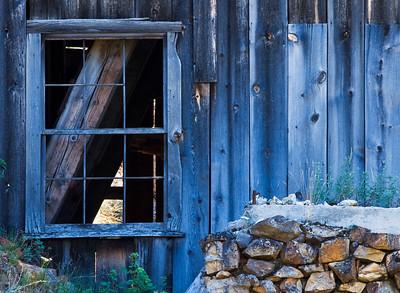Side window of an old mining mill in the Owyhee Mountains.