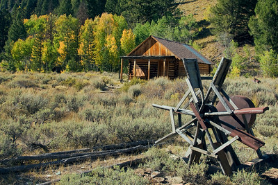 Ghost town of Custer, ID.