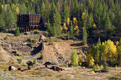 Mill remnants in Custer, ID.