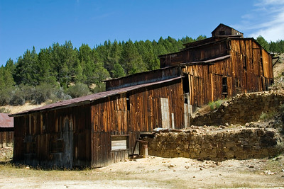 Old mining mill in the Owyhee Mountains.