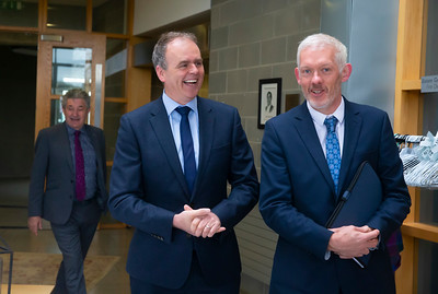 Minister for Education Joe McHugh T.D. at Waterford Institute of Technology. Picture: Patrick Browne