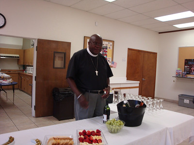Rev. Jackson helping out til Fred arrives.