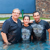 Pastor Rick Warren baptizes Father and son as the 45,000th Baptism at Saddleback Church on October 8th, 2016
