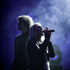 Rebecca St. James and Luke Smallbone perform a duet during the for KING & COUNTRY concert