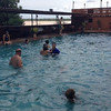 Pool with the team