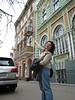 Lena, head of the Family Counseling Center, points out the office in downtown Odessa