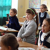 Dawn Christian School of Odessa - Lena of Rodnik with class of children