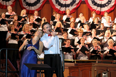 """5/20 - Tonight was Mt. Bethel's annual Patriotic Concert.  As usual, the music was rousing and inspiring, delivered by a full choir, orchestra, and special guests. A highlight of the show was a lively rendition of """"A Little Help From My Friends"""", featuring our Music Director Chuck Newman.  I love how much fun everyone was having with it! Lots more concert pictures."""