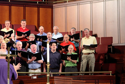 Choir with Chuck, Robert, and Steve Worch on June 16, 2013