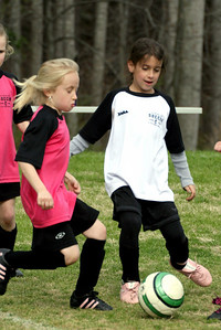 Younger girls' soccer on Coile 2.  Pink vs. White.  More from this game.