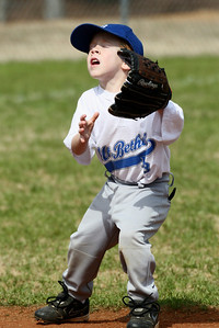 Younger boys' baseball on Rogers Field.  White/Royal vs, White/Navy.  More from this game.