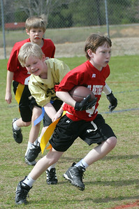 Older boys flag football on Center Field.  Red vs. Gold.  More from this game.