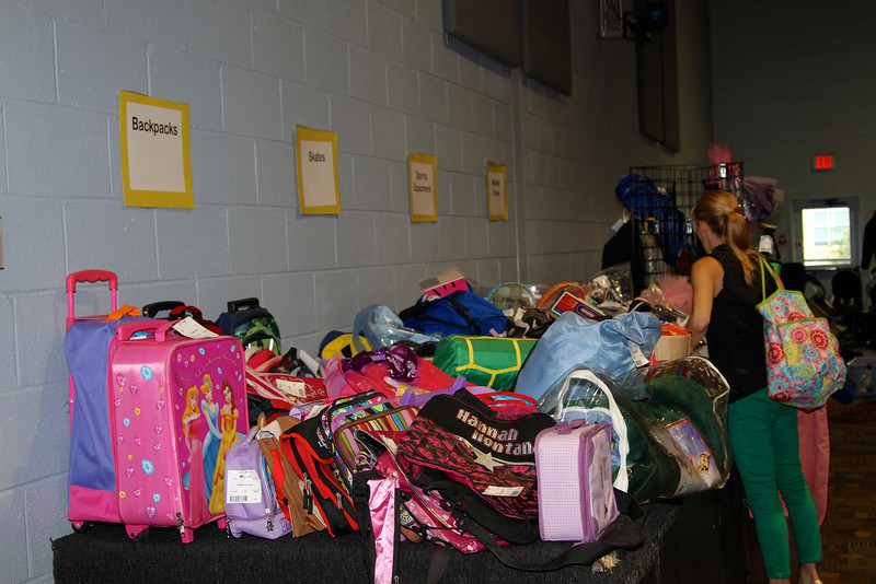 Lots of bags and backpacks