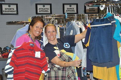 Happy Shoppers: Kimberly Hallmark and Kim Turner