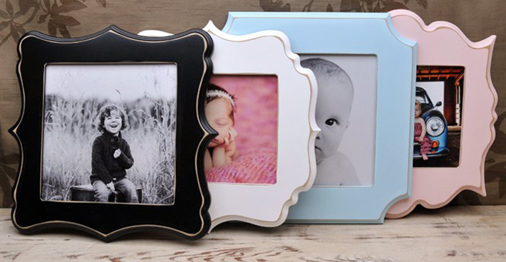 Turn your portrait into a true work of art with a fun wooden frame!  Frames, which come in five colors and an array of styles, and are handmade with distressed wood and a coat of satin finish is added for protection.  These glass-free framed images come mounted to styrene with a layer of luster coating applied to the front of the image for durability.  5x7 frames come with wooden pegs for a standing display; 8x10 and 10x10 frames include saw tooth hangers so your art work can hang on the wall.<br /> <br /> Frames are handmade with pressed wood and a cost of satin finish for protection.  Distressed wood, by nature, will have minor imperfections which lend to the vintage feel of the frame.
