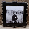 "10x10 ""tuscan"" frame in black.<br /> <br /> <br /> Frames are handmade with pressed wood and a cost of satin finish for protection.  Distressed wood, by nature, will have minor imperfections which lend to the vintage feel of the frame."