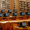 Interior view on the 2nd Floor of library a few of the many computers available for library patrons.