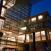 Minneapolis Central Library at night.
