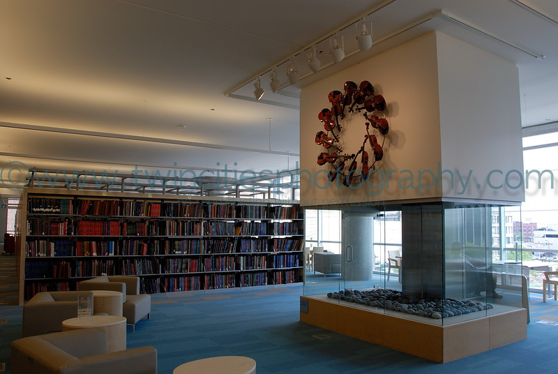 Sitting area on the 3rd level of the library.