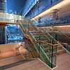 Minneapolis Central Library Interior - stairwell in the main lobby, early evening view - Winter 2007