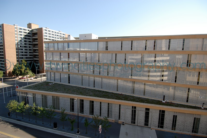 Minneapolis Central Library - part of the green roof visible in the photo.