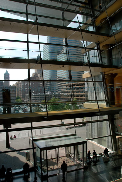 View from the lobby overlooking Nicollet Mall.