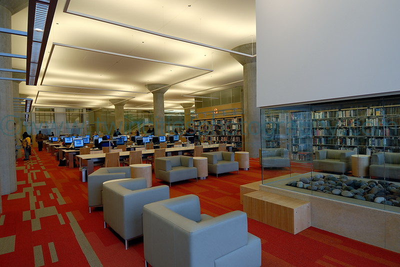 """<font size=""""2"""" face=""""Verdana"""" font color=""""#84C65D"""">Sitting area on the 3rd floor of the library.</font>"""