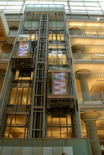 Elevators in the main lobby area