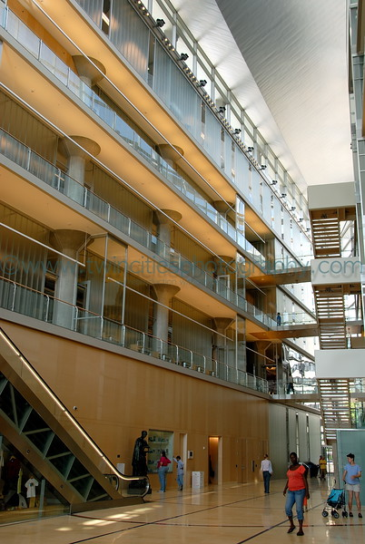 Main lobby area of the library.
