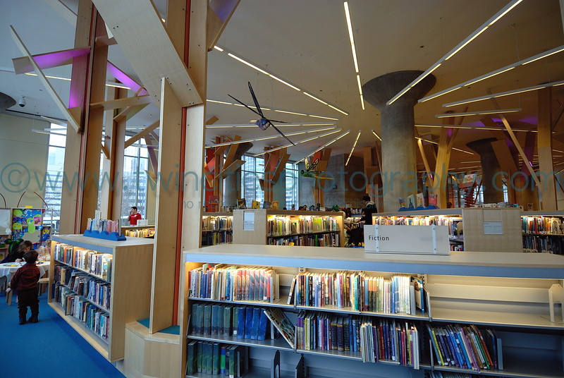 "<font size=""2"" face=""Verdana"" font color=""#84C65D"">The Childrens area of the library on the 1st floor.</font>"