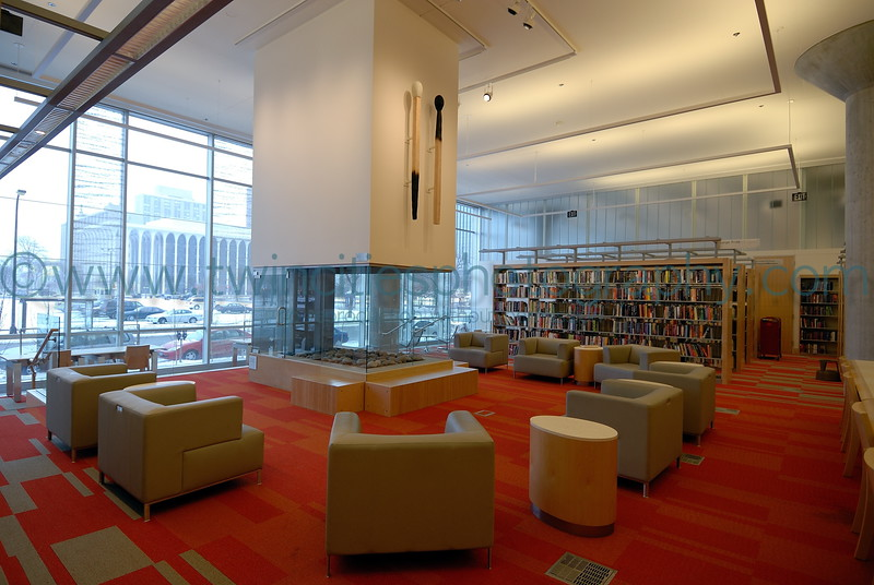 "<font size=""2"" face=""Verdana"" font color=""#84C65D"">A sitting area with fireplace on the 1st floor of the library.</font>"