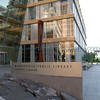 """<font size=""""2"""" face=""""Verdana"""" font color=""""#84C65D"""">View of the front entrance of the library along Nicollet Mall.</font>"""