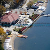 Aerial view of Lake Calhoun Concession and Boat rental area.