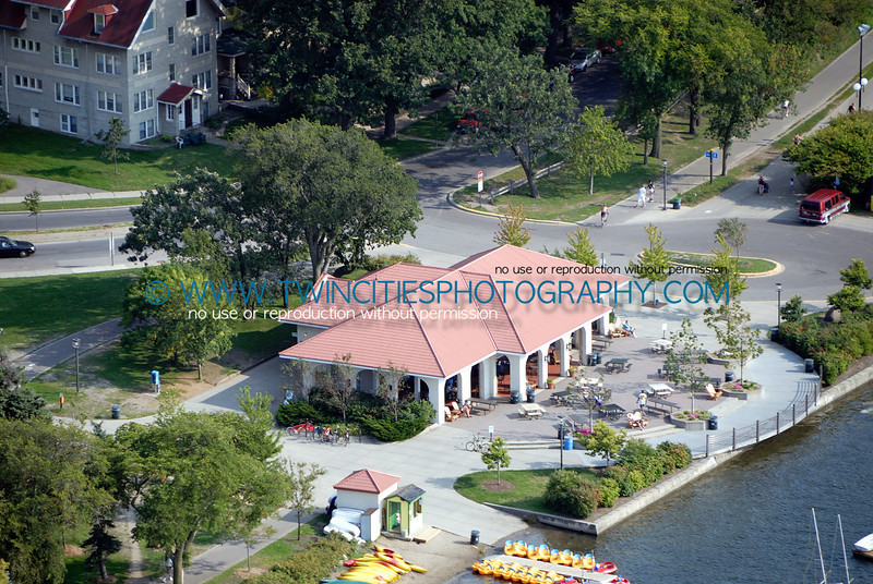 Aerial view of Lake Calhoun Concession and Boat rental area.  Fall 2006