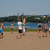 Volleyball players at Lake Calhoun