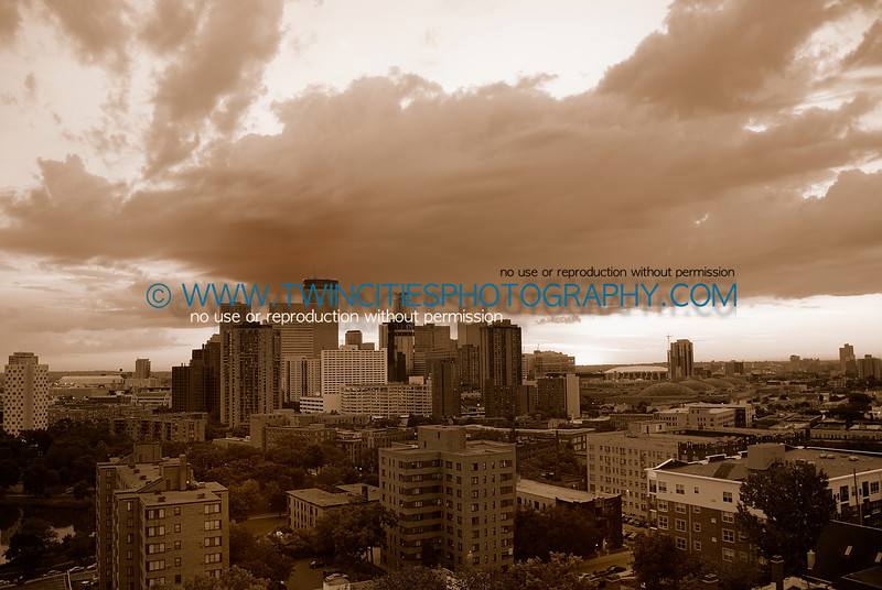 View of downtown Minneapolis viewed from the Summit House Condominiums