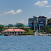 Lake Calhoun concession area and Edgewater Condominiums in the background.
