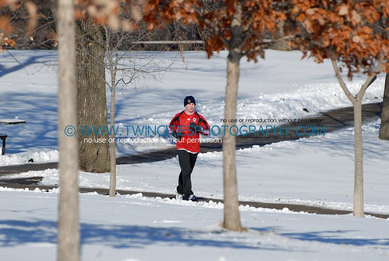 Runner near the Lake Harriet Bandshell