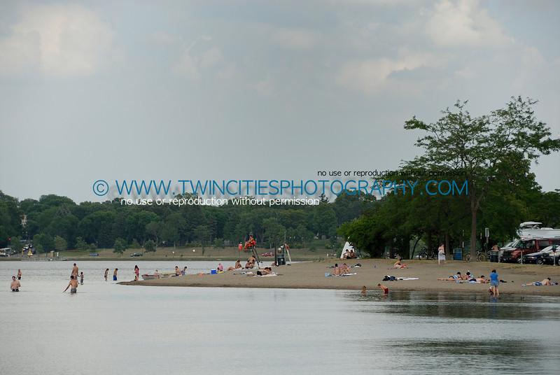 The beach at the southern end of Lake Calhoun