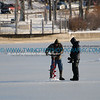 January 2007 - checking the depth of the ice on Lake Calhoun during another mild winter.