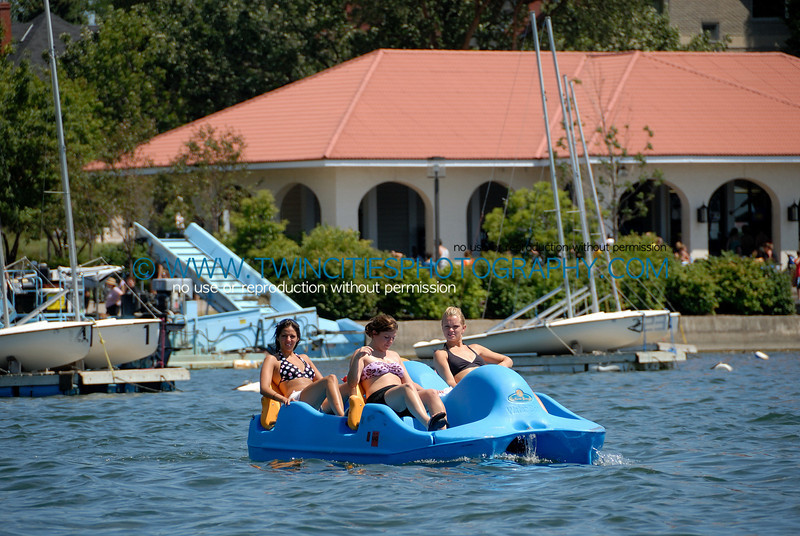 Paddle boat on lake Calhoun