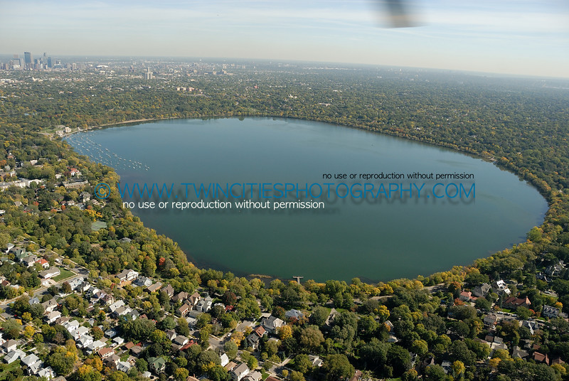 "<font size=""2"" face=""Verdana"" font color=""#5CB3FF"">Aerial view of Lake Harriet with downtown Minneapolis in the upper portion of the photo.  Photo taken September  28, 2007.</font>"
