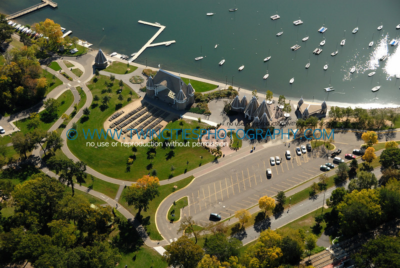 "<font size=""3"" face=""Verdana"" font color=""#5CB3FF"">Aerial view of Lake Harriet with Lake Harriet Bandshell.  Photo taken September  28, 2007.</font>"