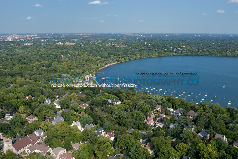 Aerial view of Lake Harriet - Fall 2006