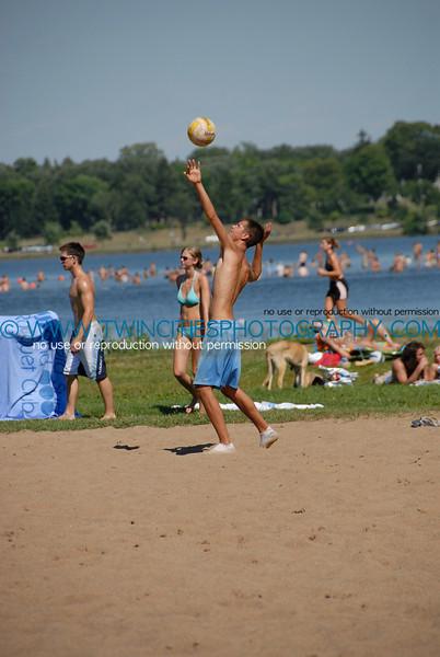 Volleyball players at Lake Calhoun