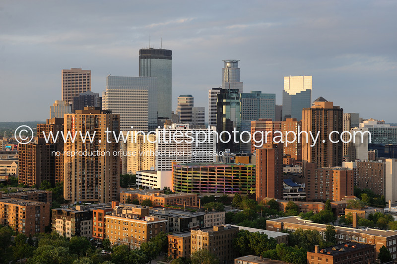 """<font size=""""3"""" face=""""Verdana"""" font color=""""turquoise"""">Minneapolis Skyline - taken from the 25th floor of Summit House Condominiums just south of Loring Park - Photo taken May 2010</font> <font size=""""2"""" face=""""Verdana"""" font color=""""white"""">Order a photo print of any photo by clicking the 'Buy' link above.</font><br> <font size = """"2"""" font color = """"gray""""> TIP: Click the photo above to display a larger size</font>"""