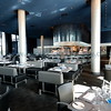 """<font size=""""2"""" face=""""Verdana"""" font color=""""#5CB3FF"""">The dining room in  Cue Restaurant at the Guthrie .</font>"""